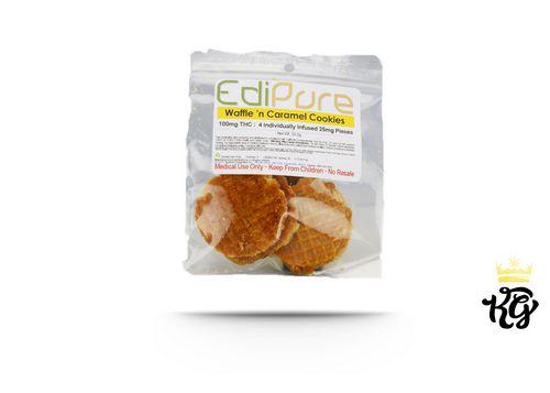 EdiPure Waffle Caramel Cookies