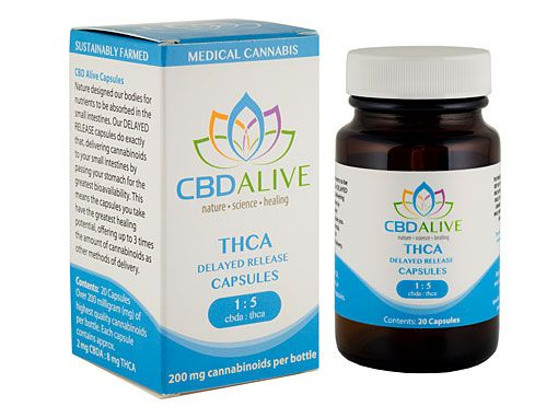 CBD Alive THCA Delayed Release Capsules 200MG