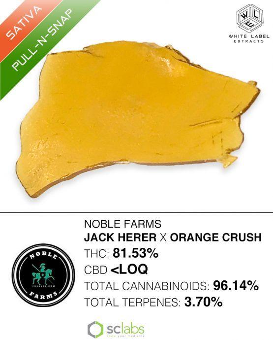 WLE -Jack Herer x Orange Crush, Sativa, Pull and Snap