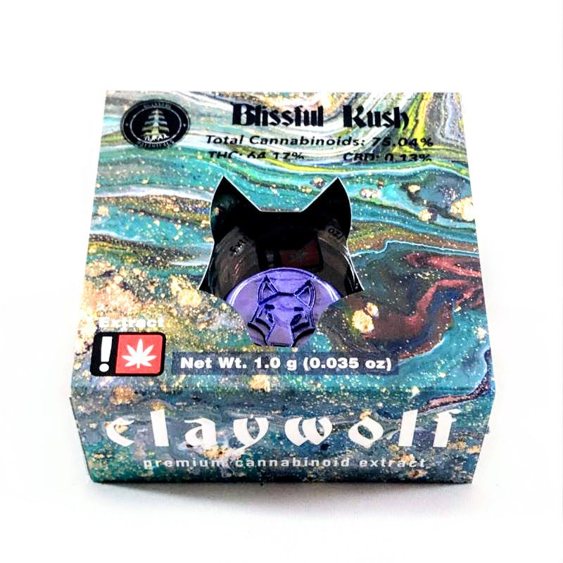 Claywolf - Blissful Kush, Indica-Hyb, Live Resin