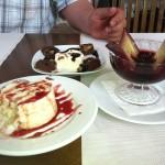 Three desserts, I'm in heaven.