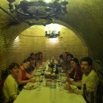 Lunch in cave at Grupo Yllera.