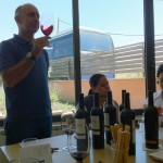 Tasting at Mas Doix with Valentin.