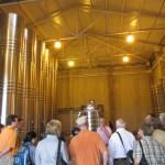 Notice tall sparkling wine tanks on left at Cruzart