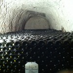 Champagne storage in limestone caves at Mumm's