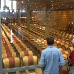 Barrel room of Leoville Poyferre