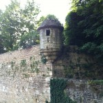 Tower still remains on medieval wall in Beaune