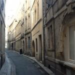 Narrow street in Bordeaux add to charm
