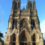 Reims Cathedral in Champagne region