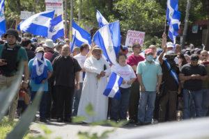 La Iglesia católica y los organismos de Derechos Humanos acompañaron las marchas ciudadanas que exigían justicia.