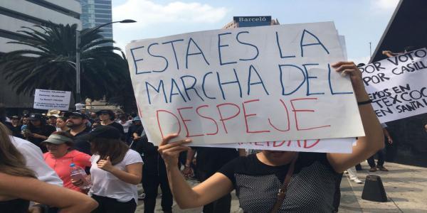 Cuestione | México | Así fue la marcha fifí en defensa del NAIM