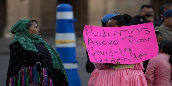 México | Población indígena de la capital, olvidada frente al COVID-19