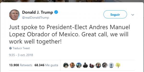 México | Del odio al amor entre AMLO y Trump, en tuits
