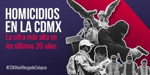 Tu Político | CDMX, en riesgo de colapso: homicidios se disparan
