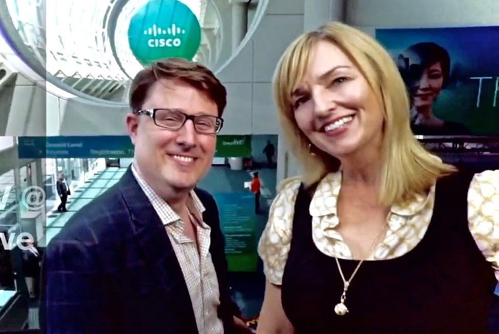 Image of Steve and Karen at the Cisco event in California