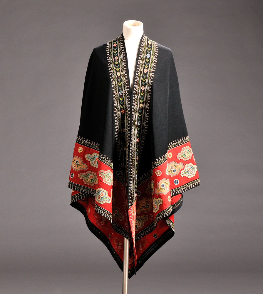 Two Wool and Silk Chain-stitch Embroidered Shawls, American and/or   European, 19th/ early 20th century (Lot 580, Estimate $300-$500)