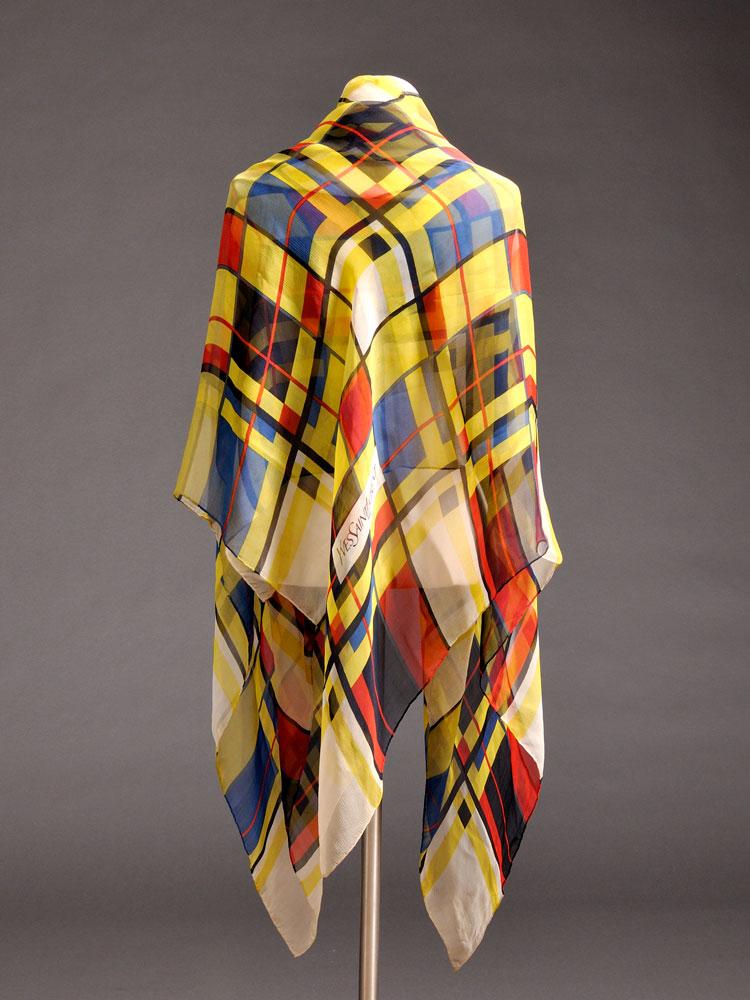"""Yves Saint Laurent """"Mondrian"""" Scarf, France, c. 1990s (Lot 553,   Estimate $200-$300)"""