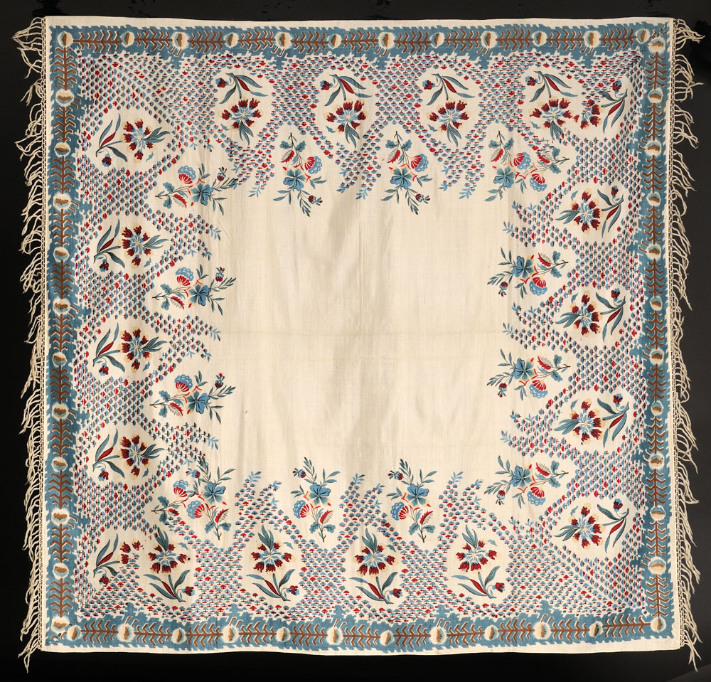 Silk and Wool Printed Scarf, American, 19th century (Lot 600,   Estimate $200-$300)