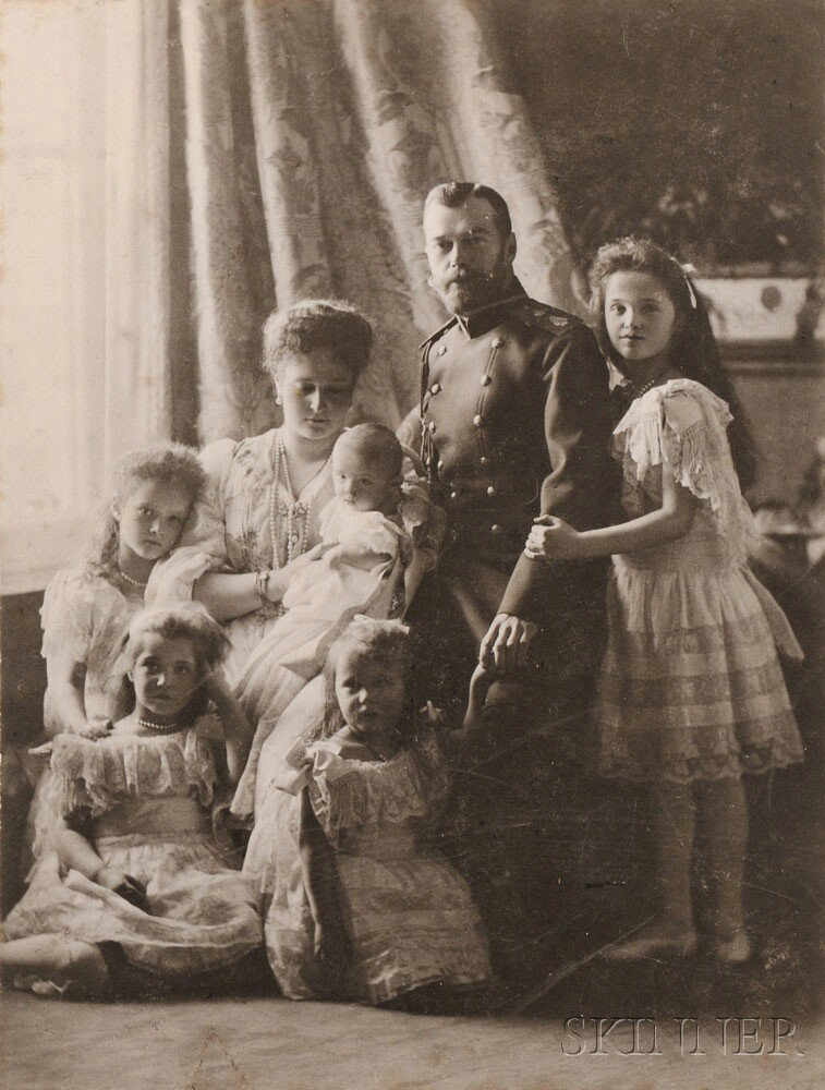 The Boisson and Eggler Workshop (St. Petersburg, Early 20th Century) The Russian   Imperial Family, collodion print, c. 1905 (Lot 348, Estimate $700-$900)