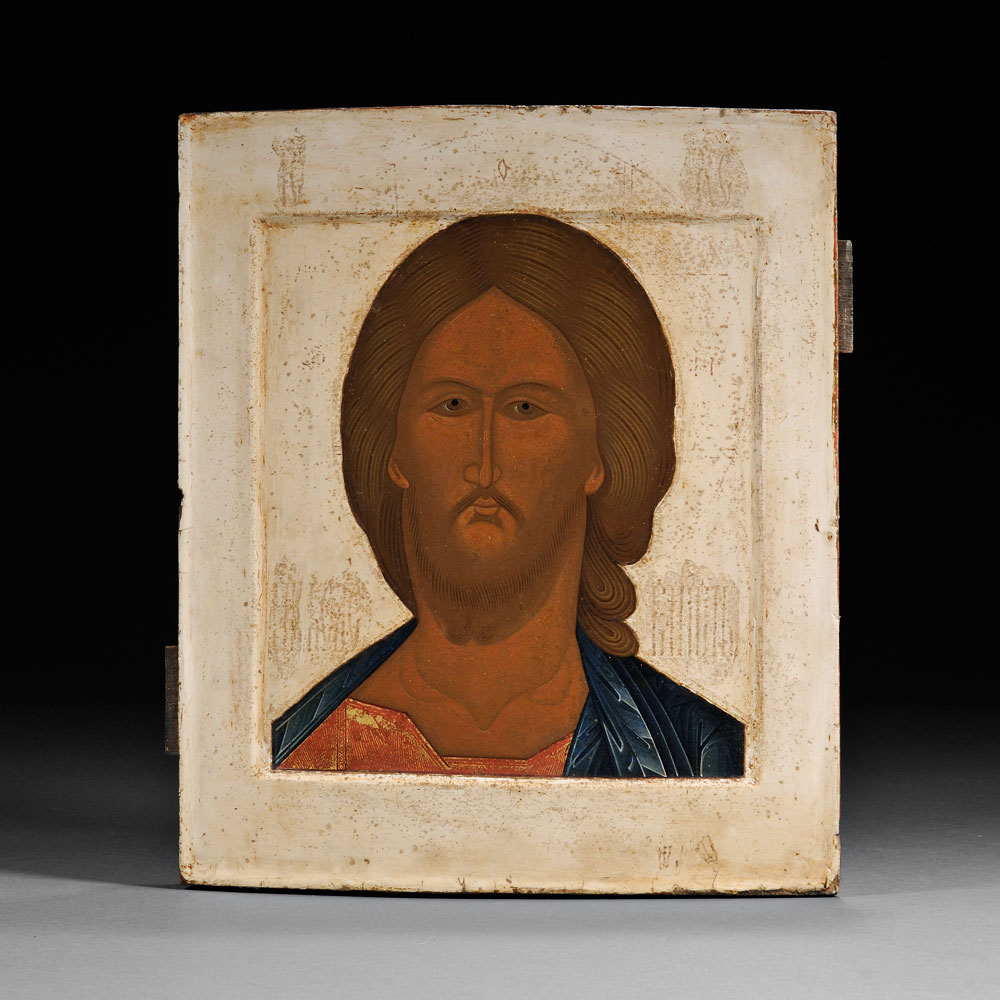 Icon of Christ Pantocrator, Russian, early 19th century (Lot 548, Estimate $1,200-  $1,800)