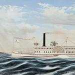 Portrait of the Sidewheeler Steamboat NEVERSINK