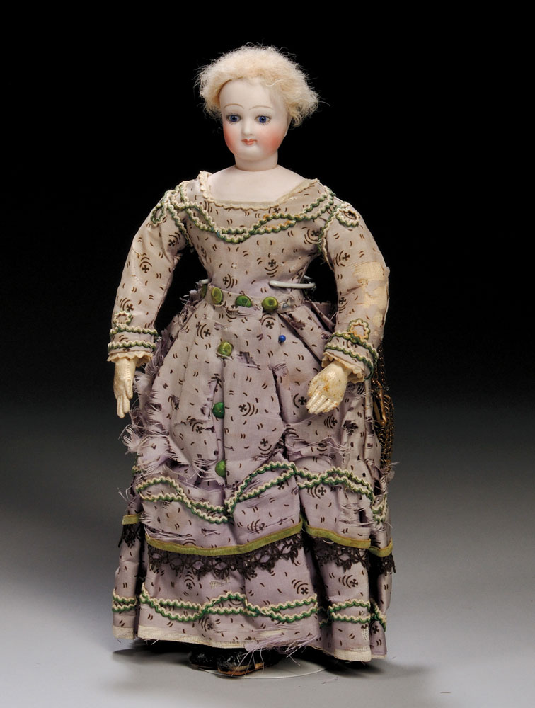 Small Early Bisque Head French Lady Doll, c. 1870 (Lot 183, Estimate $1,000-$1,500)