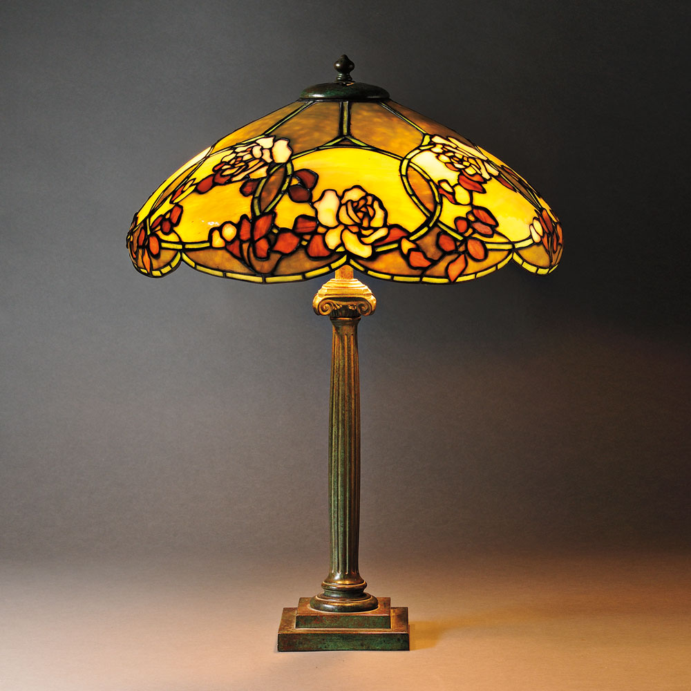 Mosaic Glass Table Lamp Attributed to Duffner & Kimberly, Art glass and metal, New York, early 20th century (Lot 1, Estimate $2,000-$3,000)