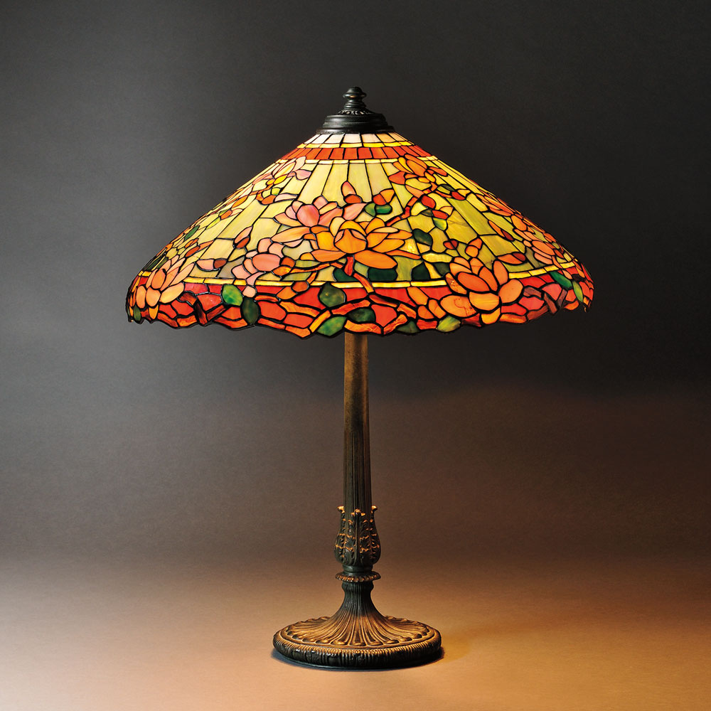Mosaic Glass Magnolia Table Lamp Attributed to Wilkinson, Art glass and metal, United States, 20th century (Lot 15, Estimate $2,500-$3,500)