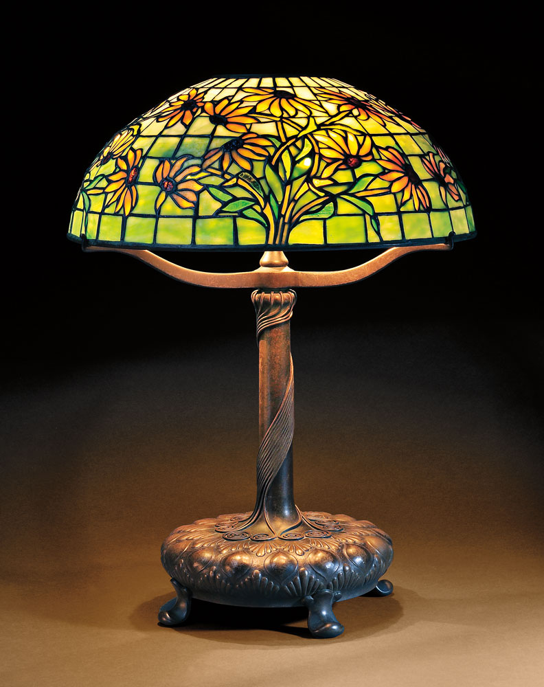 Tiffany Studios Black-eyed Susan Mosiac Glass Table Lamp, Art glass and patinated bronze, New York, early 20th century (Lot 46, Estimate $20,000-$30,000)