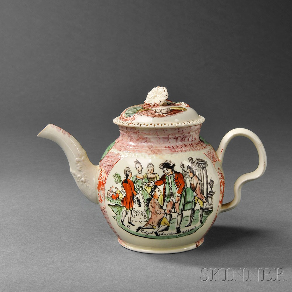 Staffordshire Cream-colored Earthenware Teapot and Cover (Lot 1180, Estimate $500-$700)