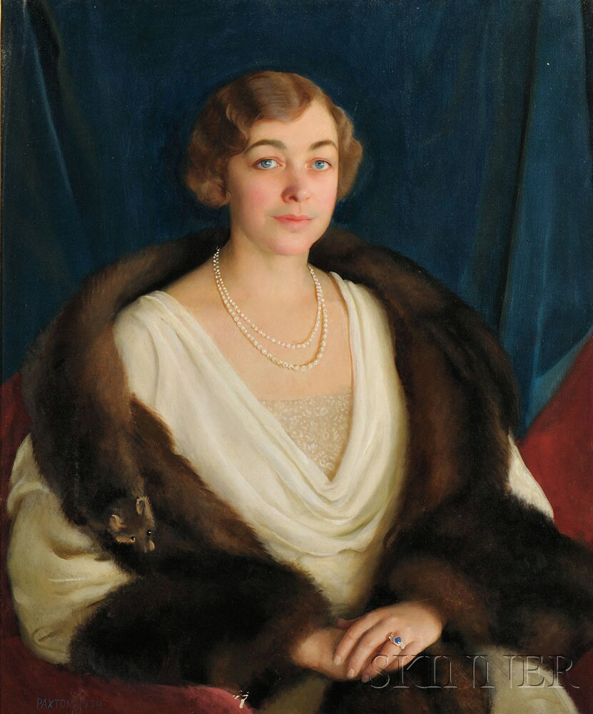 Portrait of Deborah Norris (Brock) Bent by William McGregor Paxton (American, 1869-1941) (Lot 6, Estimate $10,000-$15,000)