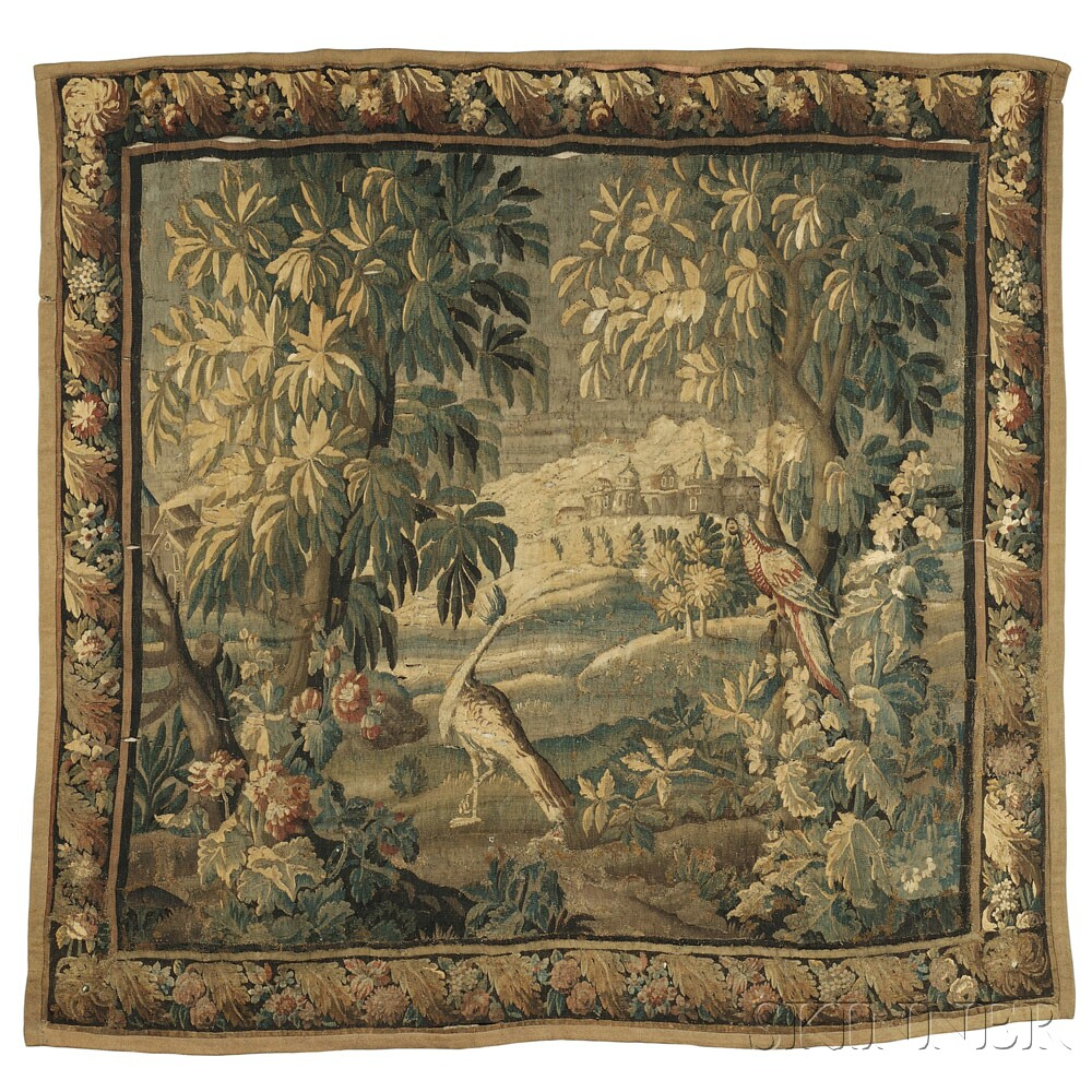 Verdure Tapestry, Flanders, 17th/18th century (Lot 87, Estimate $4,000-$6,000)