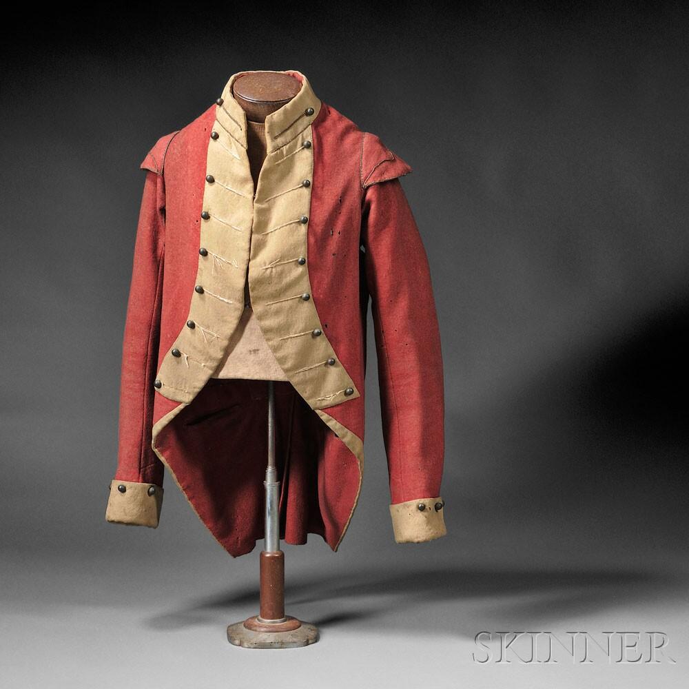 American Militia Coatee, c. 1800 (Lot 140, Estimate $1,800-$2,000)