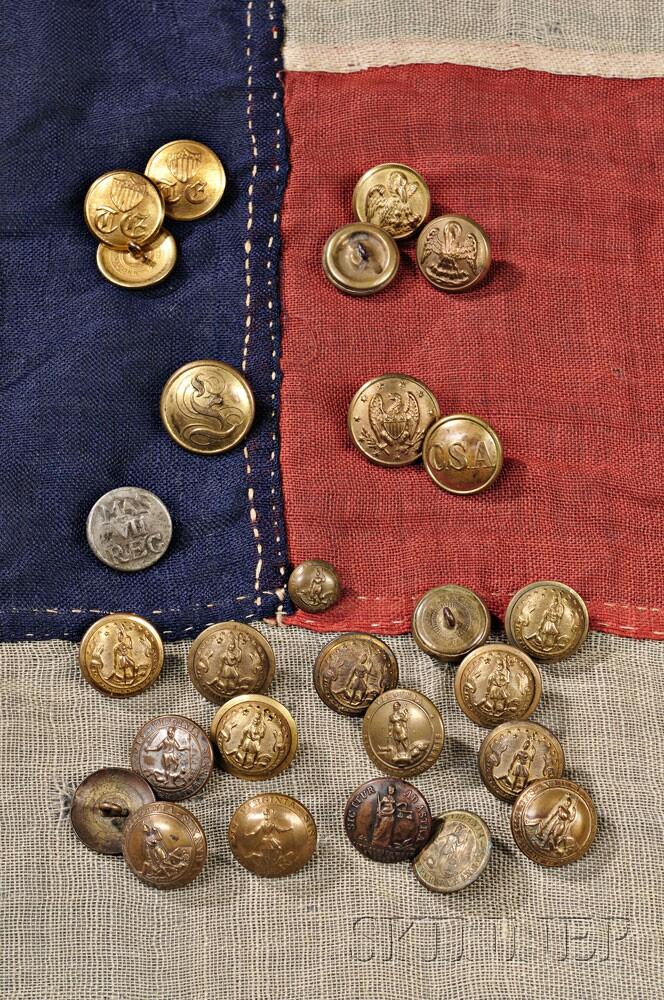 Revolutionary War and Civil War buttons