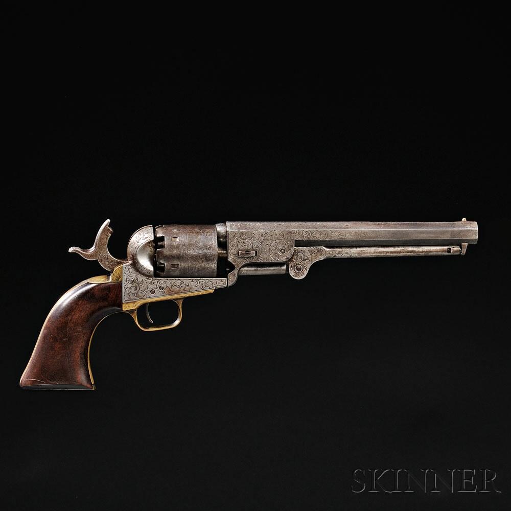 Factory Engraved Colt Model 1851 Navy Revolver, c. 1853 (Lot 43, Estimate   $8,000-$12,000)