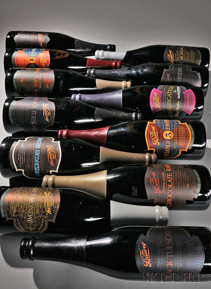 12-bottle Black Tuesday Variant direct from the cellars of The   Bruery (Lot 158, Estimate $600-$900)
