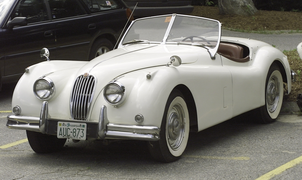 Sold for $25,850. 1955 Jaguar XK140 Roadster, VIN# G10048