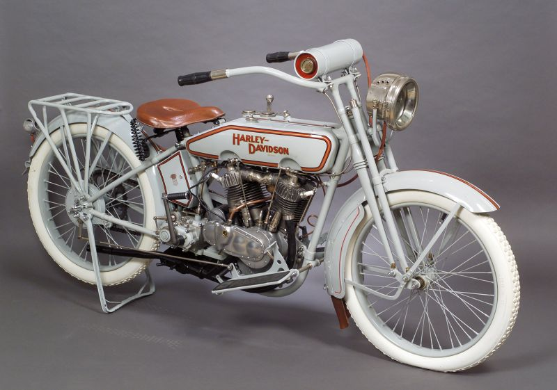 Sold for $32,250. 1916 Harley Davidson Twin Motorcycle,  VIN# L10487M