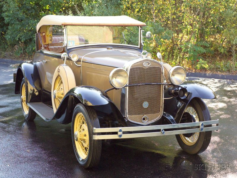Sold for $17,625. 1931 Ford Deluxe Roadster, VIN#  A2986171