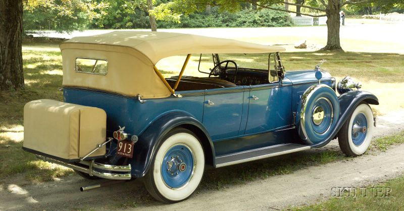Sold for $99,500. 1930 Packard Deluxe Eight Phaeton, VIN#  185236, Model 740