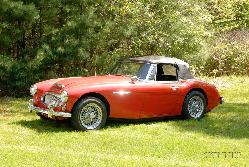 Sold for $17,000. 1966 Austin Healey 3000 Mark III Roadster, VIN# HBJ8L78837