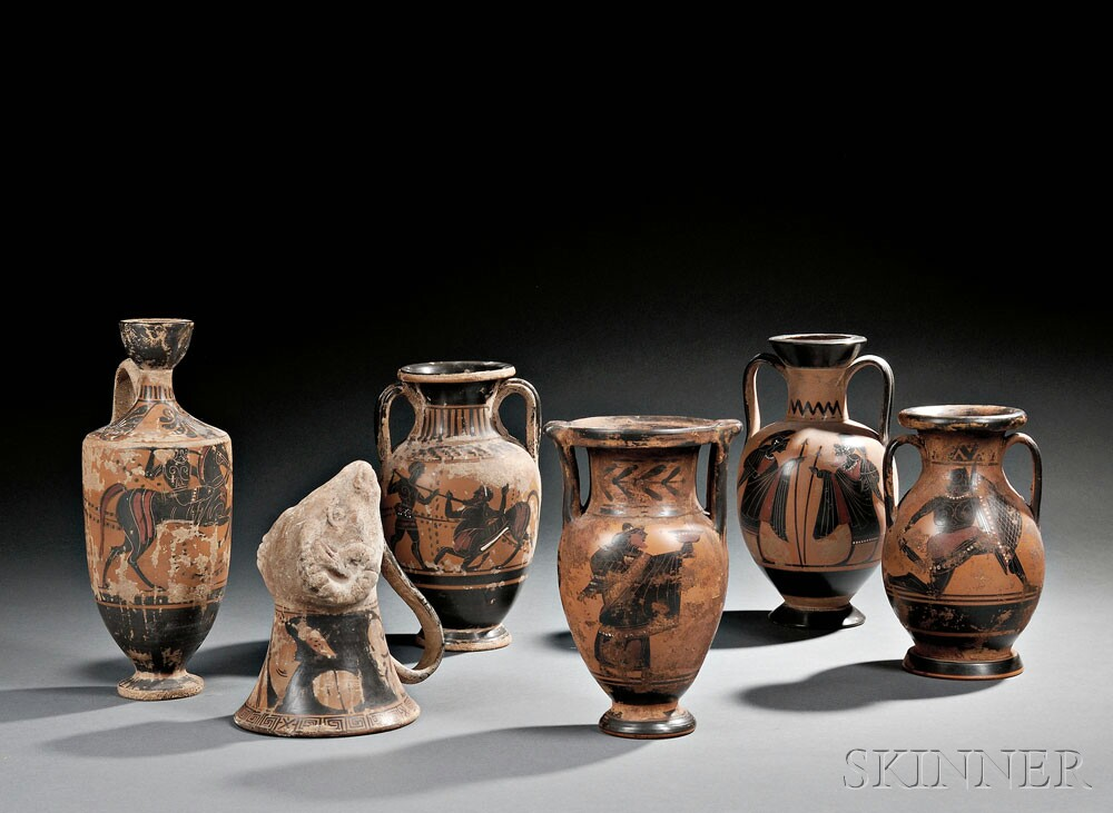 Selection of Grand Tour Ceramic Vessels (Lots 200-201)