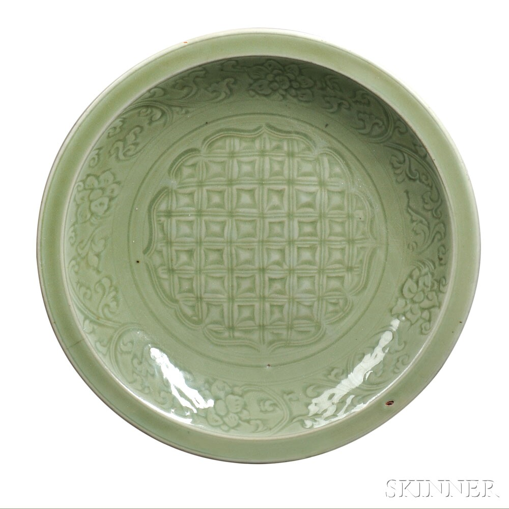 Large Celadon Dish, China, Ming Dynasty or later (Lot 4, Estimate $500-$700)