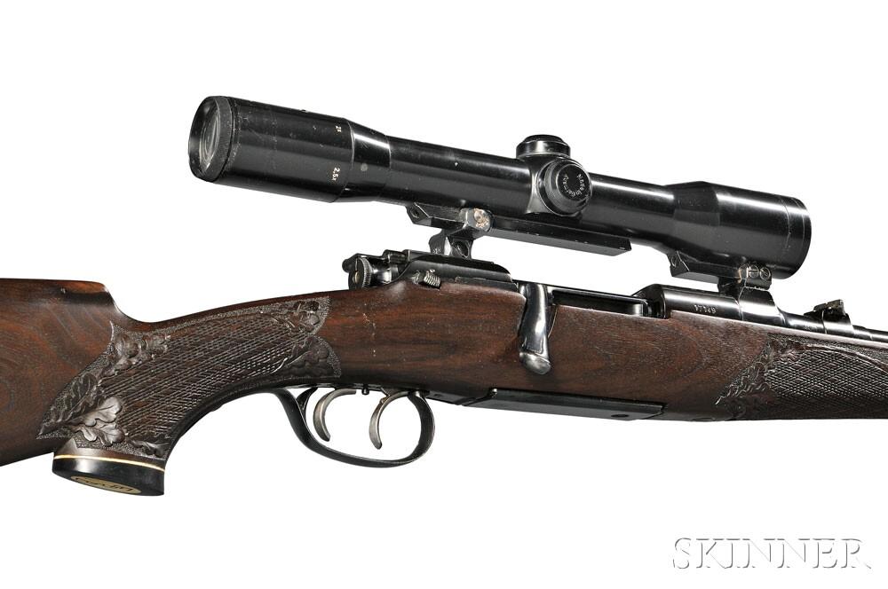 Model 1952 Mannlicher Schoenauer Carbine with Scope, c. 1956 (Lot 306, Estimate $2,500-$3,000)