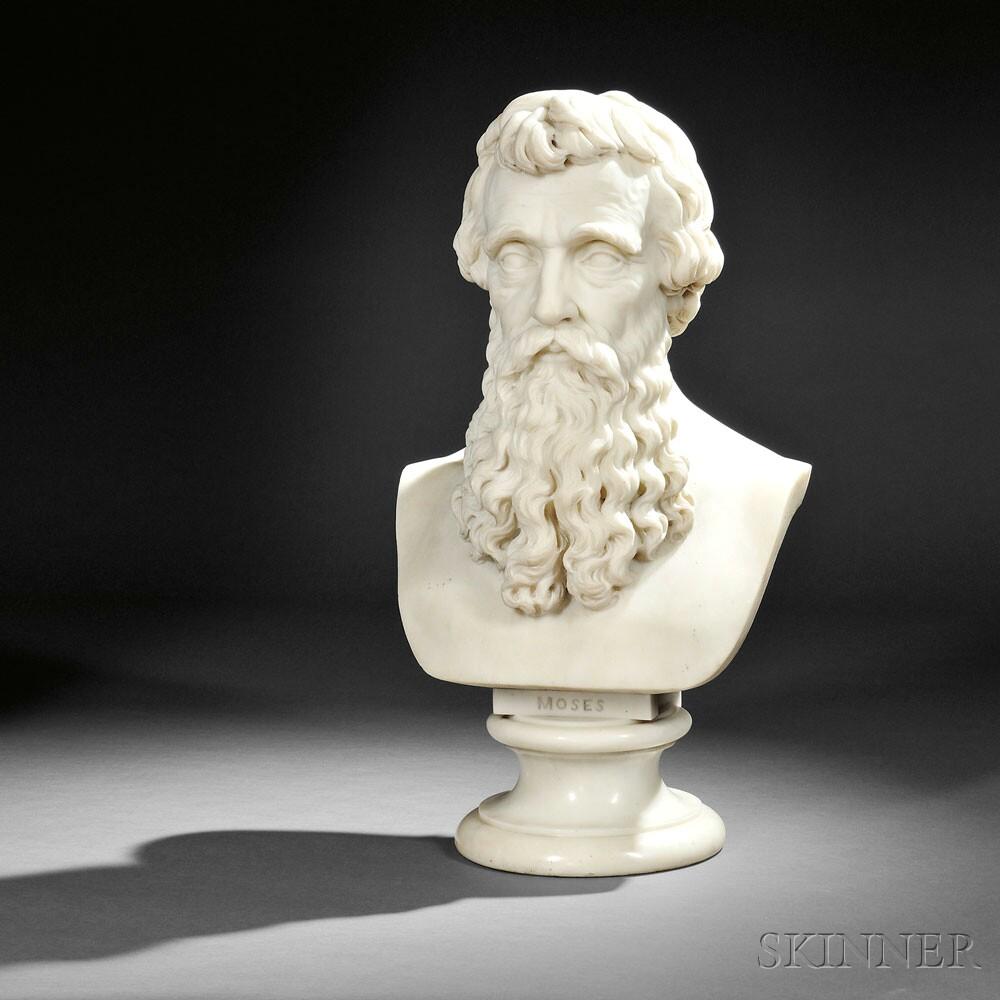 Horatio Stone (American, 1808-1875)  Moses (Lot 229, Estimate $5,000-$7,000)
