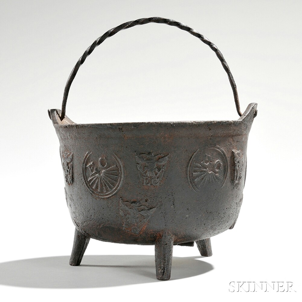 Small Cast Iron Pot, America, late 18th/early 19th century (Lot 30, Estimate $1,000-$1,500)