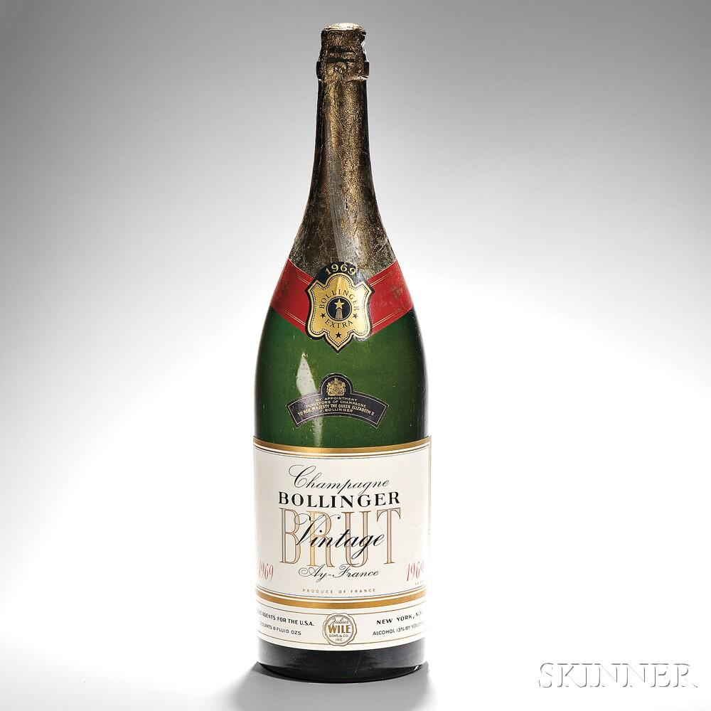 Bollinger Brut 1969 (Lot 1, Estimate $2,000-$3,000)