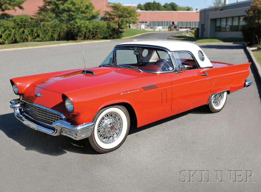 1957 Ford Thunderbird Convertible/Hardtop, VIN# D7FH120128 (Lot 2,   Estimate $30,000-$35,000)