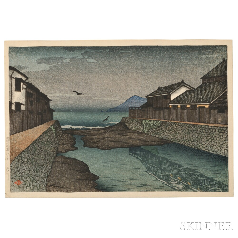 Kawase Hasui (1883-1957), Horikawa River, Obama, Japan, early Fall 1920 (Lot 18, Estimate $5,000-$7,000)
