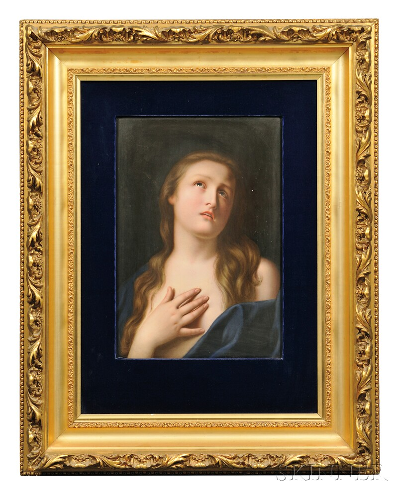 KPM Rectangular Hand-painted Porcelain Plaque Depicting Mary Magdalene, Berlin, late 19th/early 20th century (Lot 596, Estimate $800-$1,200)